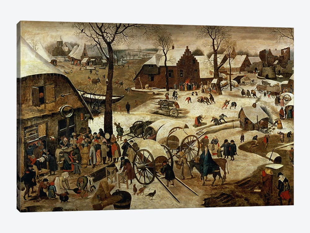 The Payment of the Tithe or The Census at Bethlehem   by Pieter Brueghel the Younger 1-piece Canvas Print