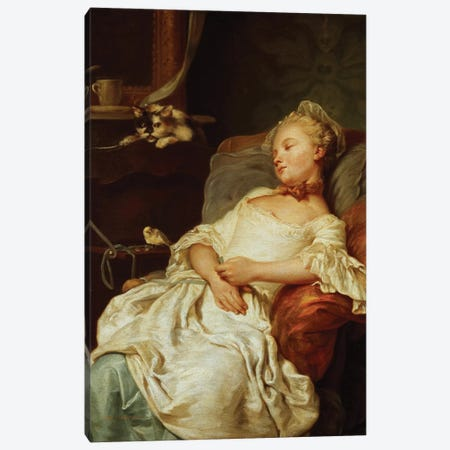 The Sleeper, 1759  Canvas Print #BMN1406} by Jean Francois Colson Canvas Print