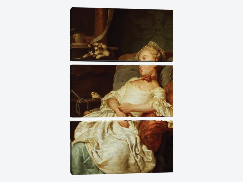 The Sleeper, 1759  by Jean Francois Colson 3-piece Canvas Artwork