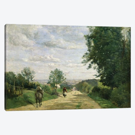 The Road to Sevres, 1858-59   Canvas Print #BMN1407} by Jean-Baptiste-Camille Corot Canvas Print
