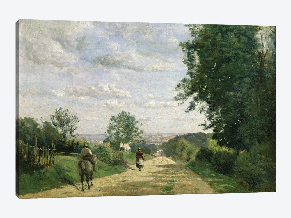 The Road to Sevres, 1858-59   by Jean-Baptiste-Camille Corot 1-piece Canvas Art Print