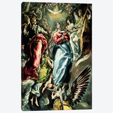 The Immaculate Conception, 1607-13 Canvas Print #BMN1408} by El Greco Canvas Wall Art