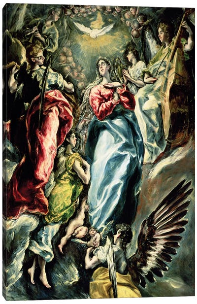 The Immaculate Conception, 1607-13 Canvas Art Print