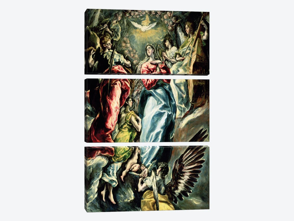 The Immaculate Conception, 1607-13 by El Greco 3-piece Canvas Art