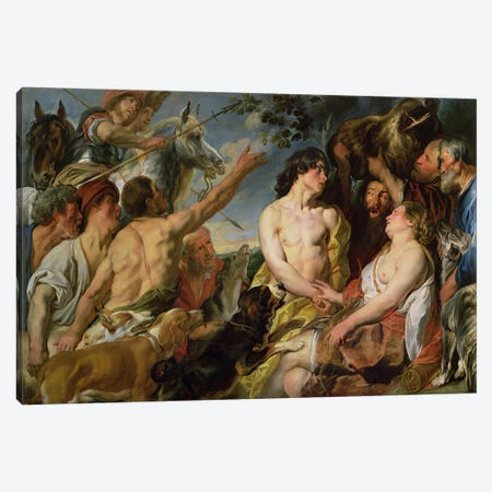 Meleager and Atalanta  Canvas Print #BMN1409} by Jacob Jordaens Canvas Wall Art