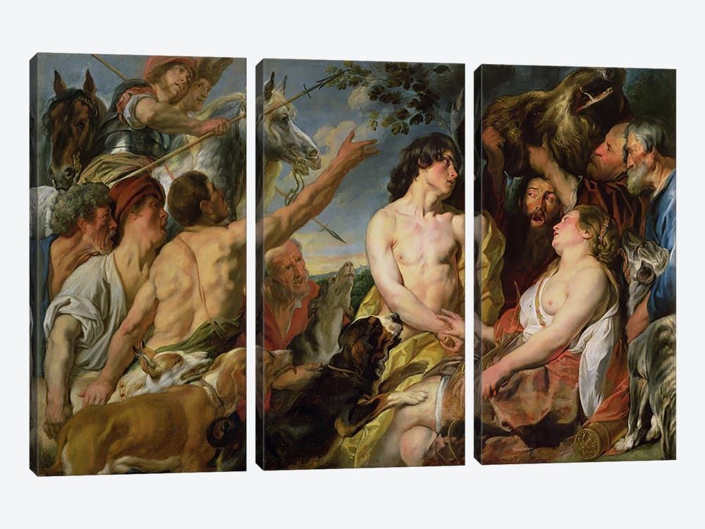 Meleager and Atalanta  by Jacob Jordaens 3-piece Art Print