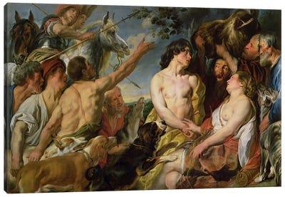 Meleager and Atalanta  Canvas Art Print