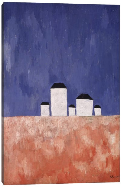 Landscape with Five Houses, c.1932 (oil on canvas) Canvas Art Print