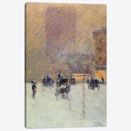 Winter Afternoon in New York, 1900  Canvas Print #BMN1410} by Childe Hassam Canvas Print