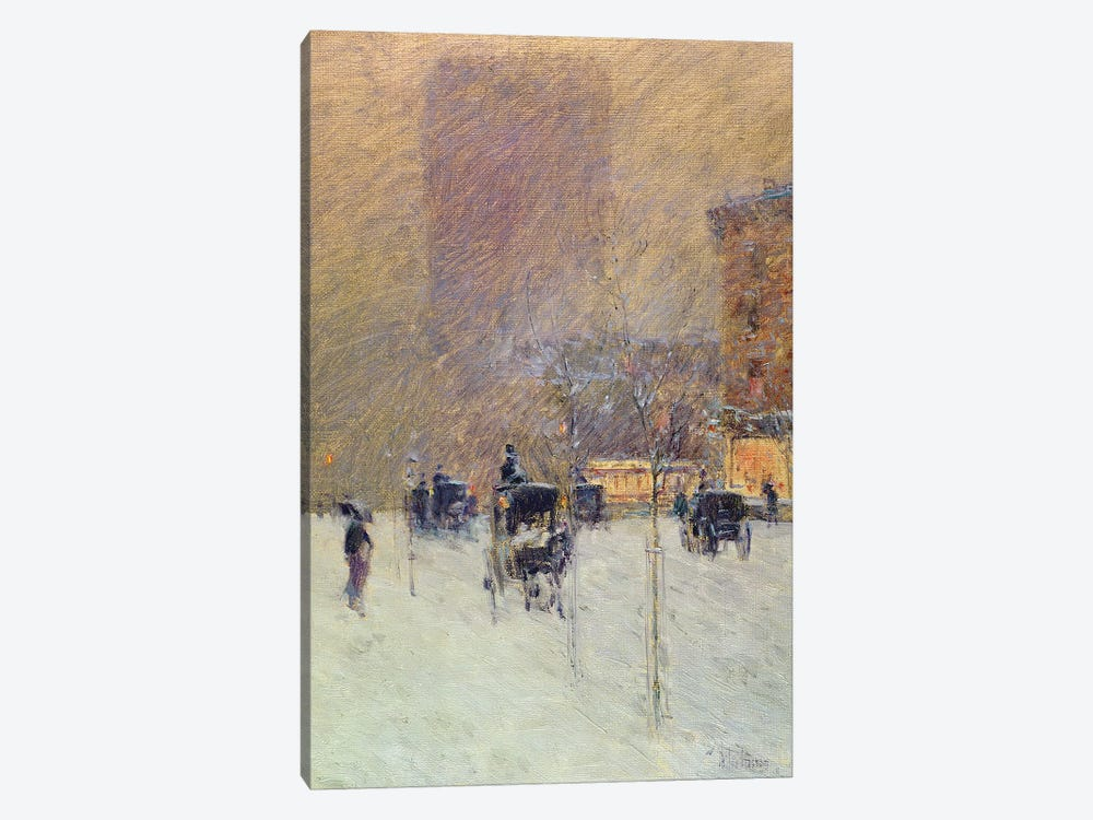 Winter Afternoon in New York, 1900  by Childe Hassam 1-piece Canvas Art Print