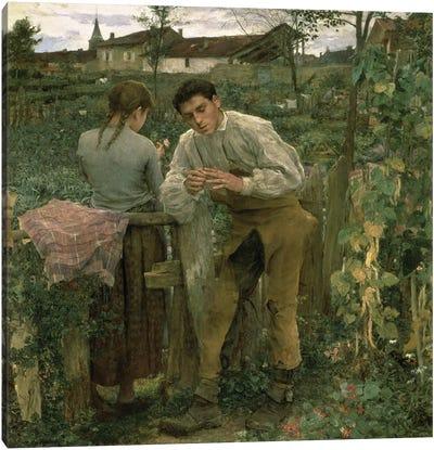 Rural Love, 1882  Canvas Art Print