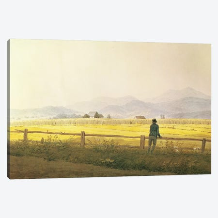 View of Schmiedebergerkamm, c.1837  Canvas Print #BMN1415} by Caspar David Friedrich Canvas Art
