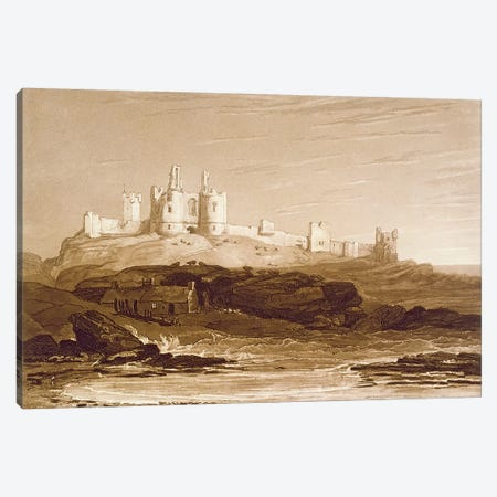 F.14.I Dunstanborough Castle, from the 'Liber Studiorum', engraved by Charles Turner, 1808  Canvas Print #BMN1416} by J.M.W. Turner Canvas Art