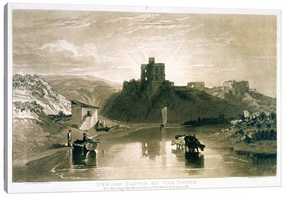F.57.I Norham Castle on the River Tweed, from the 'Liber Studiorum', engraved by Charles Turner, 1816 by J.M.W Turner Canvas Art