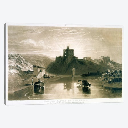 F.57.I Norham Castle on the River Tweed, from the 'Liber Studiorum', engraved by Charles Turner, 1816  Canvas Print #BMN1417} by J.M.W. Turner Canvas Art