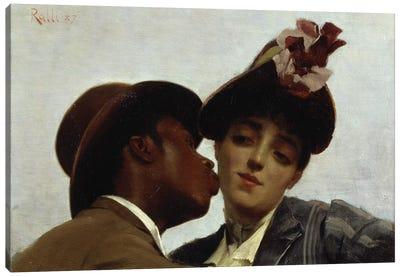The Kiss, 1887  Canvas Art Print