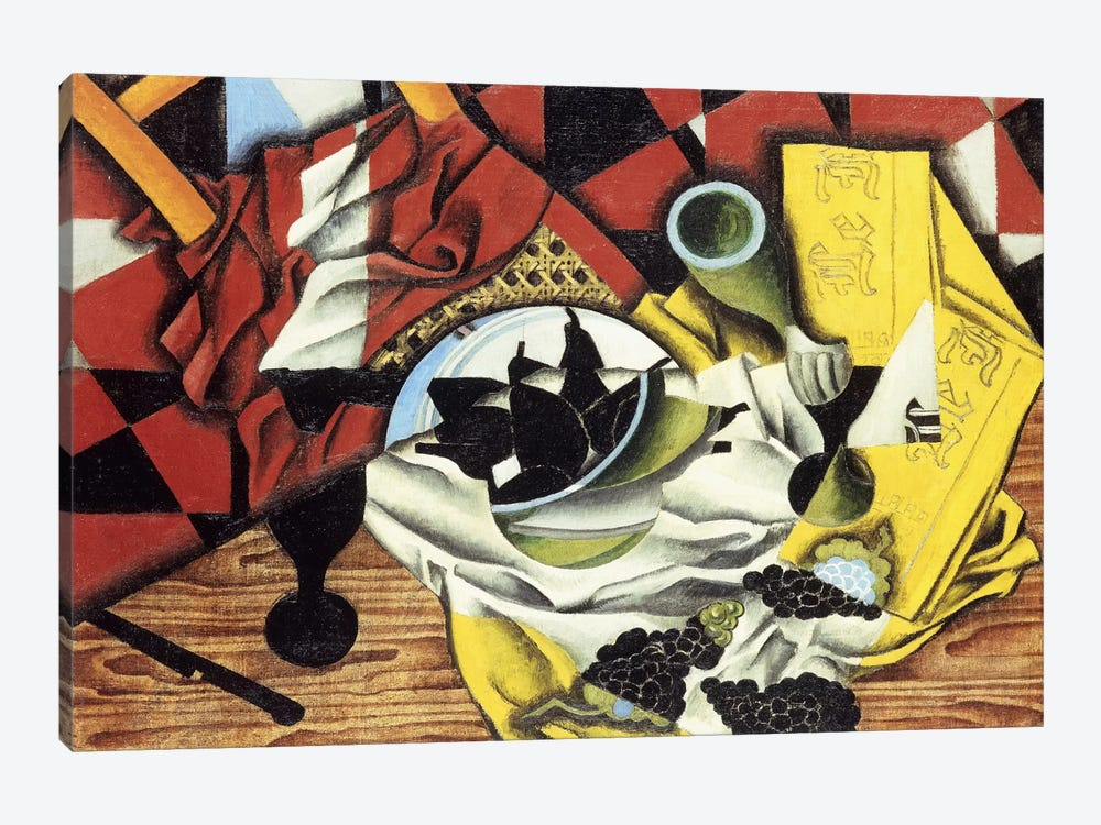 Pears and Grapes on a Table; Poires et Raisins sur une Table, 1913 (oil on canvas) by Juan Gris 1-piece Art Print