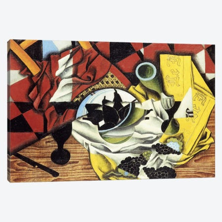 Pears and Grapes on a Table; Poires et Raisins sur une Table, 1913 (oil on canvas) Canvas Print #BMN141} by Juan Gris Canvas Art Print
