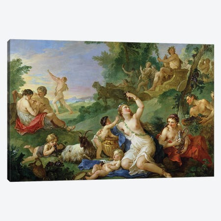 The Triumph of Bacchus  Canvas Print #BMN1420} by Charles Joseph Natoire Canvas Artwork