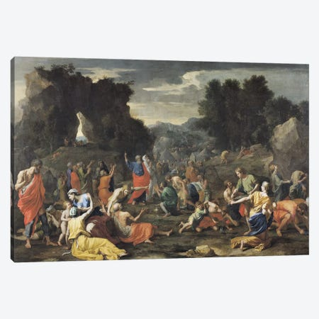 The Gathering of Manna, c.1637-9  Canvas Print #BMN1421} by Nicolas Poussin Canvas Wall Art