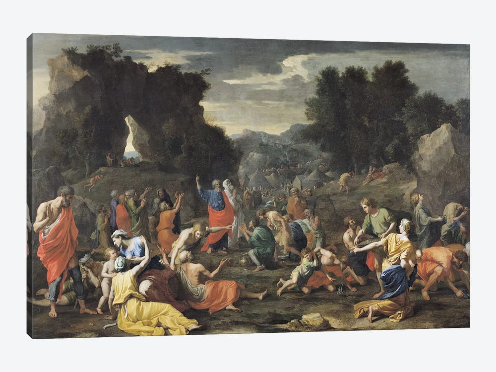 The Gathering of Manna, c.1637-9  by Nicolas Poussin 1-piece Canvas Art Print
