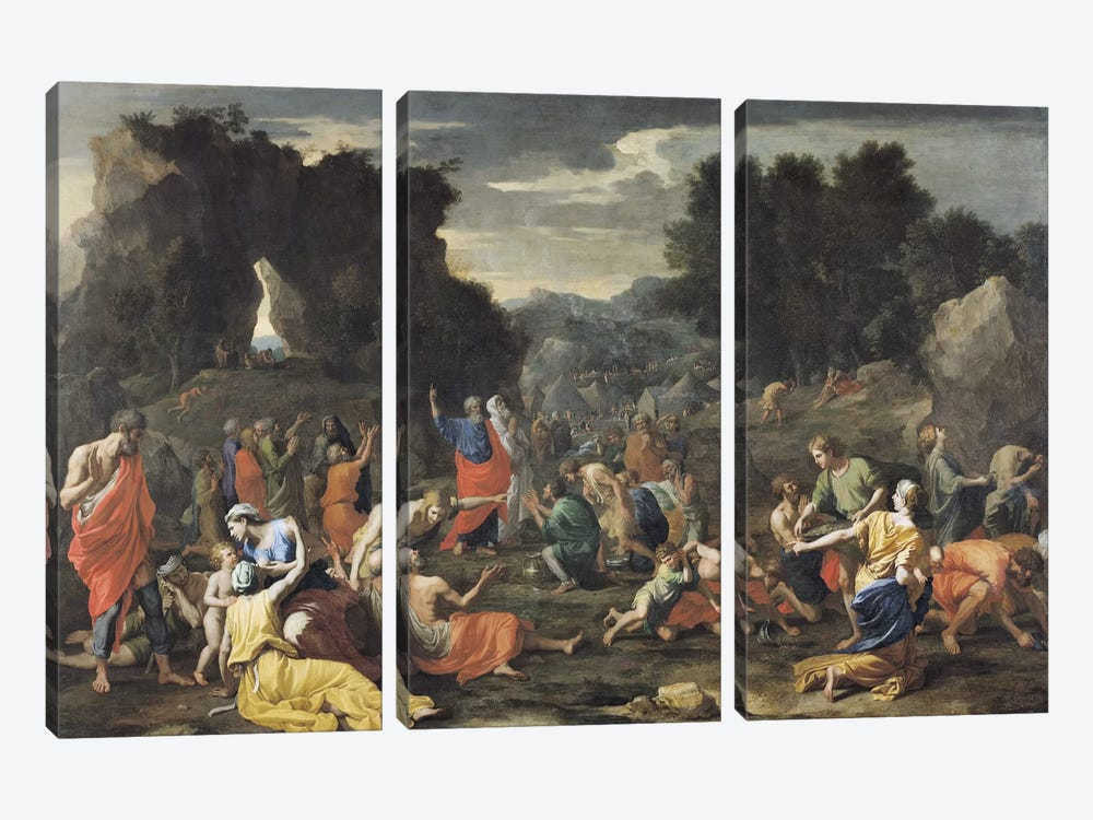 The Gathering of Manna, c.1637-9  by Nicolas Poussin 3-piece Art Print