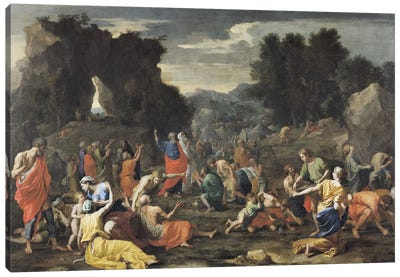The Gathering of Manna, c.1637-9  Canvas Art Print