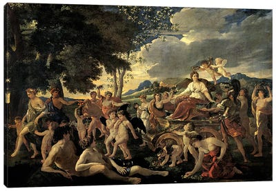 The Triumph of Flora, c.1627-28  Canvas Art Print