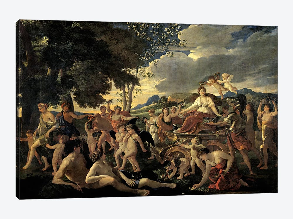 The Triumph of Flora, c.1627-28  by Nicolas Poussin 1-piece Canvas Artwork