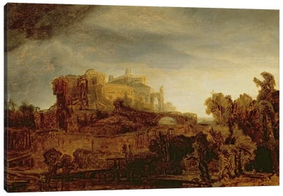 Landscape with a Chateau  Canvas Art Print