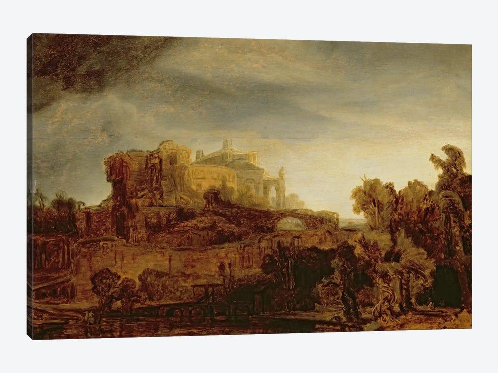Landscape with a Chateau  by Rembrandt van Rijn 1-piece Art Print