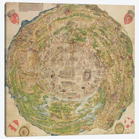 Circular map of Vienna during the Turkish siege, 1530 Canvas Print #BMN1426} by Unknown Artist Canvas Print