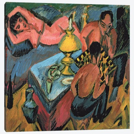 Otto Muller  Canvas Print #BMN1429} by Ernst Ludwig Kirchner Canvas Artwork