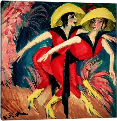Dancers in Red, 1914 Canvas Art Print