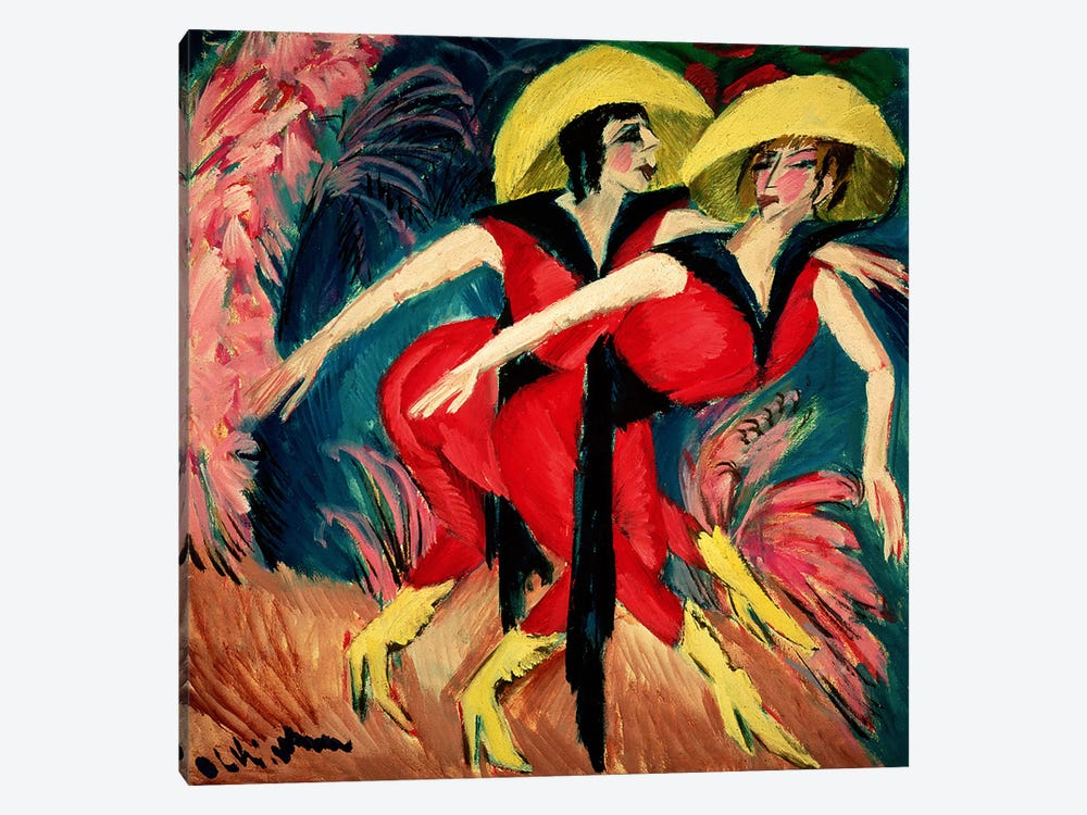 Dancers in Red, 1914 by Ernst Ludwig Kirchner 1-piece Canvas Art Print