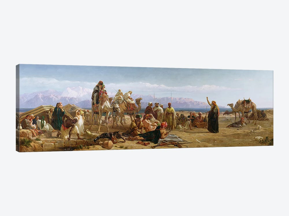 Early Morning in the Wilderness of Shur, 1860  by Frederick Goodall 1-piece Canvas Art Print