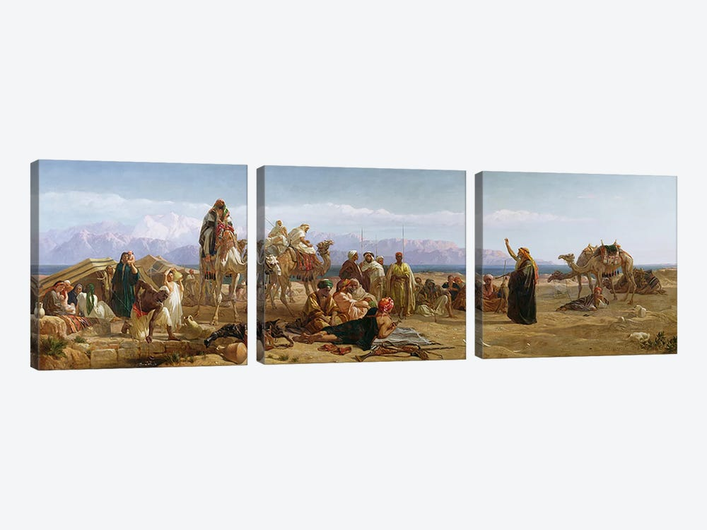 Early Morning in the Wilderness of Shur, 1860  by Frederick Goodall 3-piece Art Print