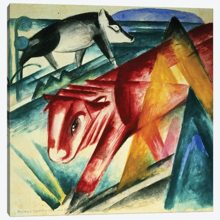 Animals, 1913  Canvas Print #BMN1440} by Franz Marc Canvas Wall Art