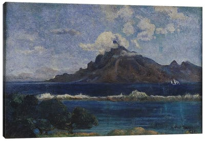 Coastal Martinique Landscape, 1887  Canvas Art Print