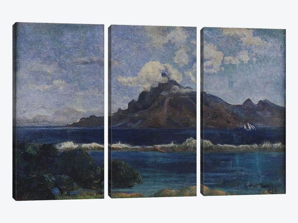 Coastal Martinique Landscape, 1887 by Paul Gauguin 3-piece Canvas Art