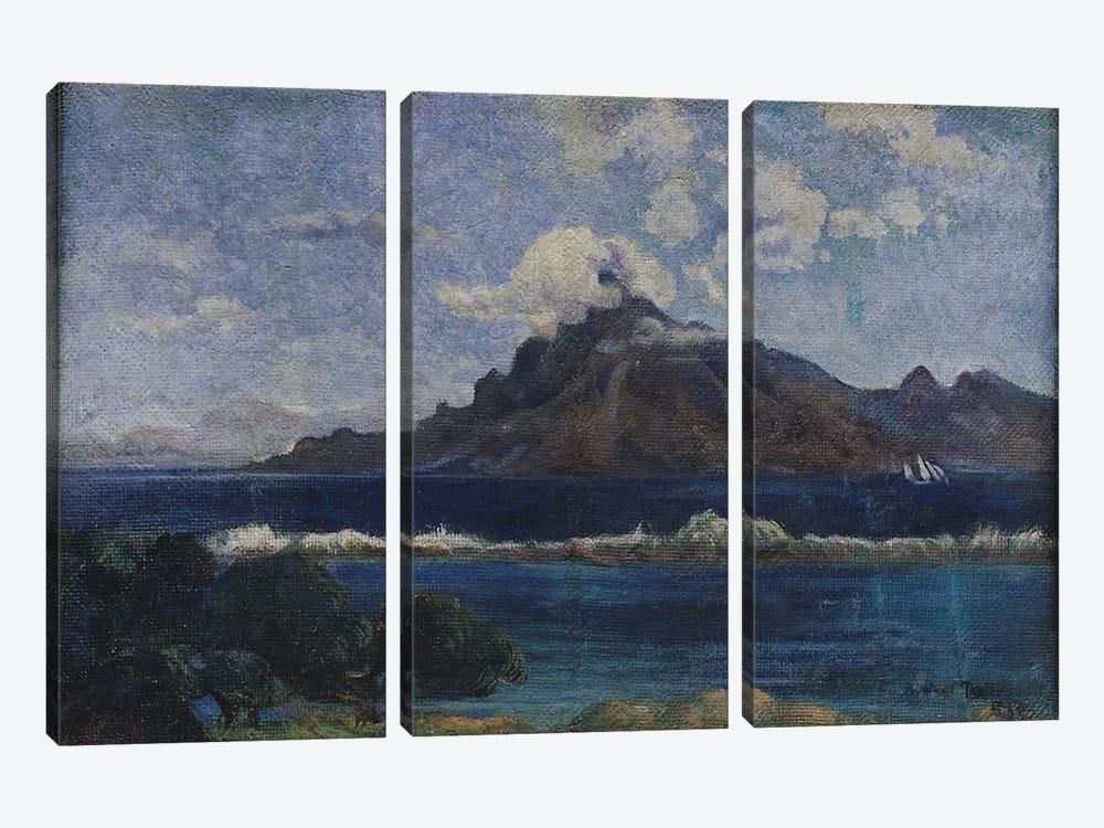 Coastal Martinique Landscape, 1887  by Paul Gauguin 3-piece Canvas Art