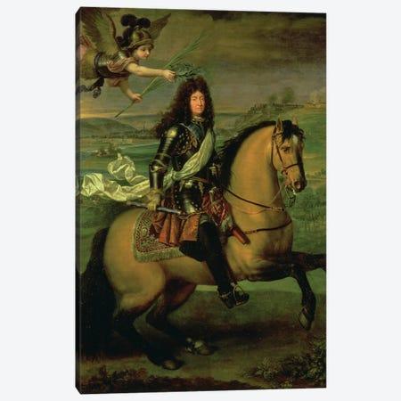 Equestrian Portrait of Louis XIV  Canvas Print #BMN1445} by Pierre Mignard Art Print