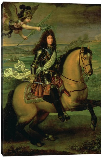 Equestrian Portrait of Louis XIV  Canvas Art Print