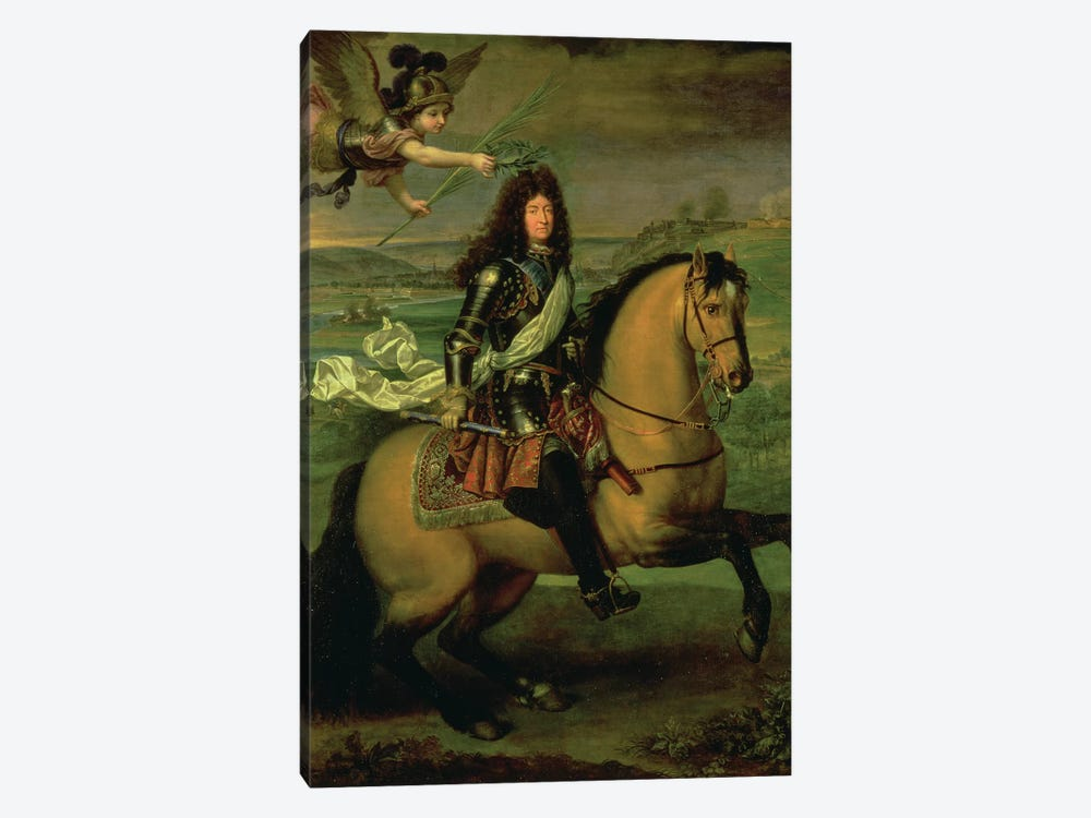 Equestrian Portrait of Louis XIV  by Pierre Mignard 1-piece Canvas Art Print