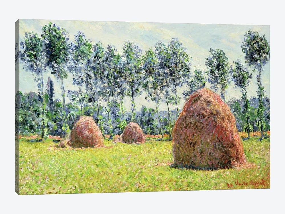 Haystacks at Giverny, 1884  by Claude Monet 1-piece Canvas Art