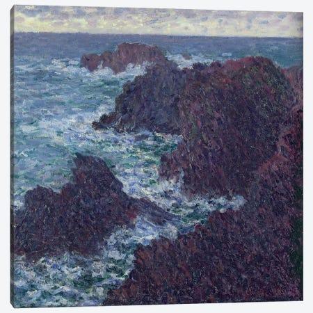 The Rocks at Belle-Ile, the Wild Coast, 1886  Canvas Print #BMN1449} by Claude Monet Canvas Art