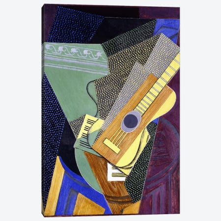 Guitar on a Table; Guitare sur une Table, 1916 (oil on canvas) Canvas Print #BMN144} by Juan Gris Canvas Art