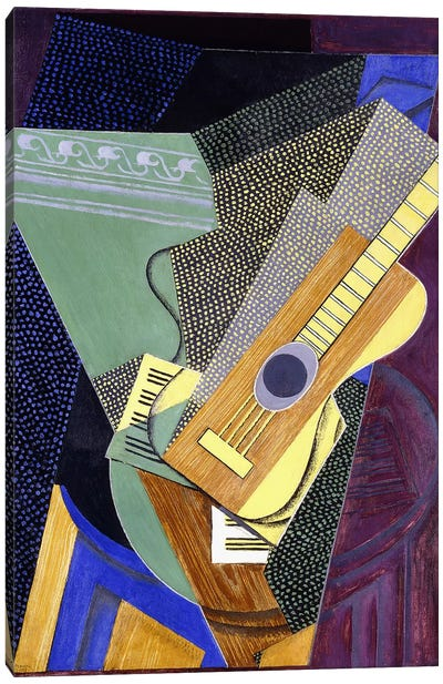 Guitar on a Table; Guitare sur une Table, 1916 (oil on canvas) Canvas Art Print