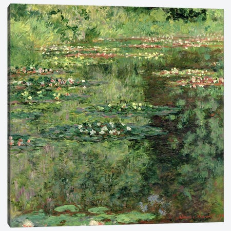 The Waterlily Pond, 1904  Canvas Print #BMN1450} by Claude Monet Art Print