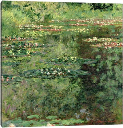 The Waterlily Pond, 1904  Canvas Art Print